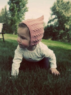 knit pixie cable hat