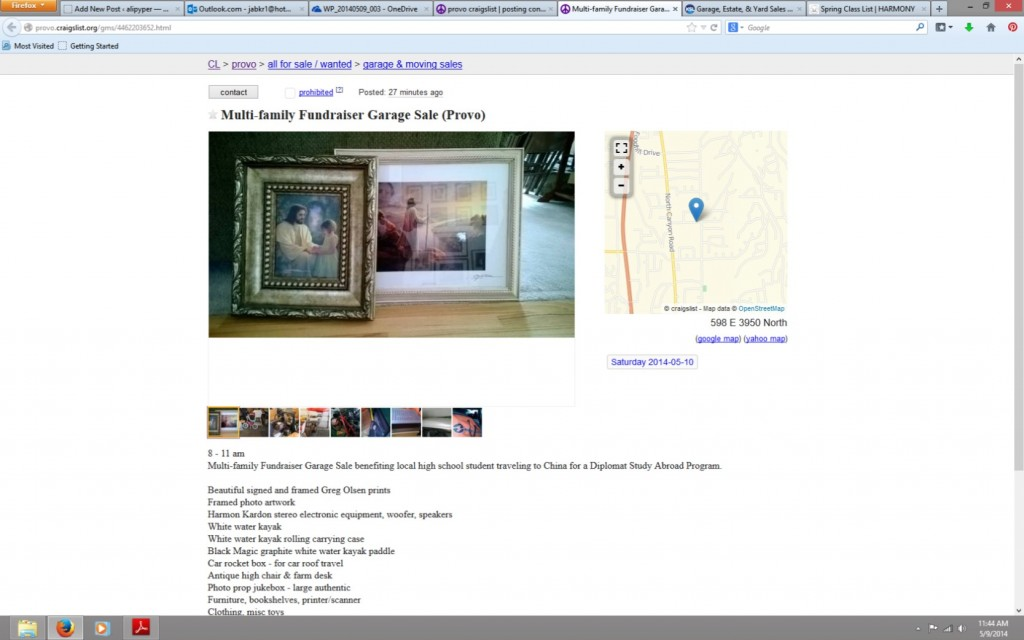 craigslist ad screen shot