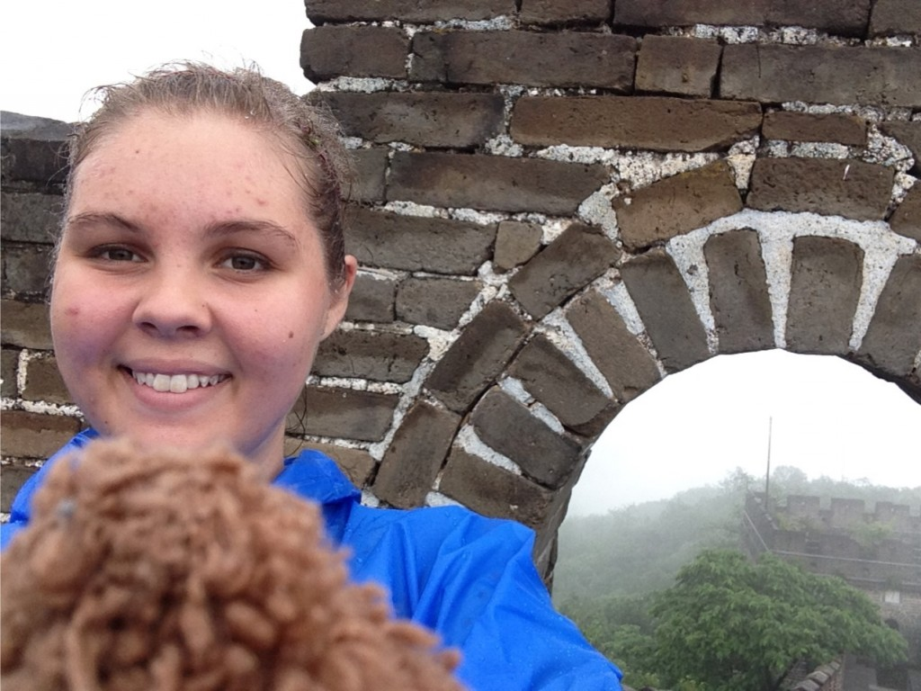 g and dr. fuzzles at the great wall of china