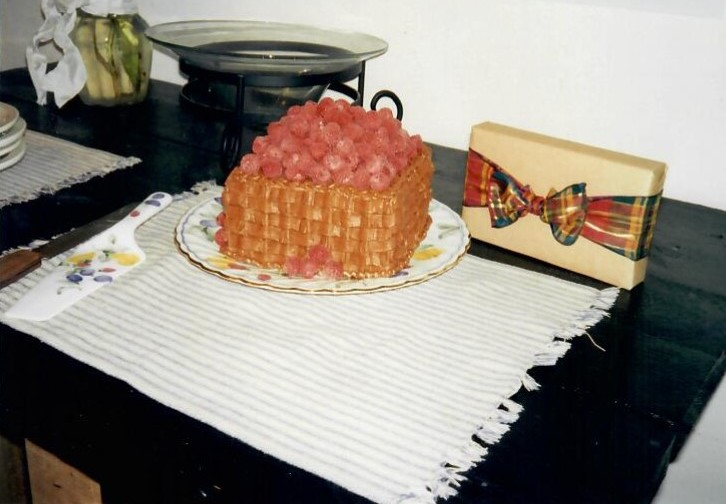 alipyper - basket of raspberries birthday cake 1996